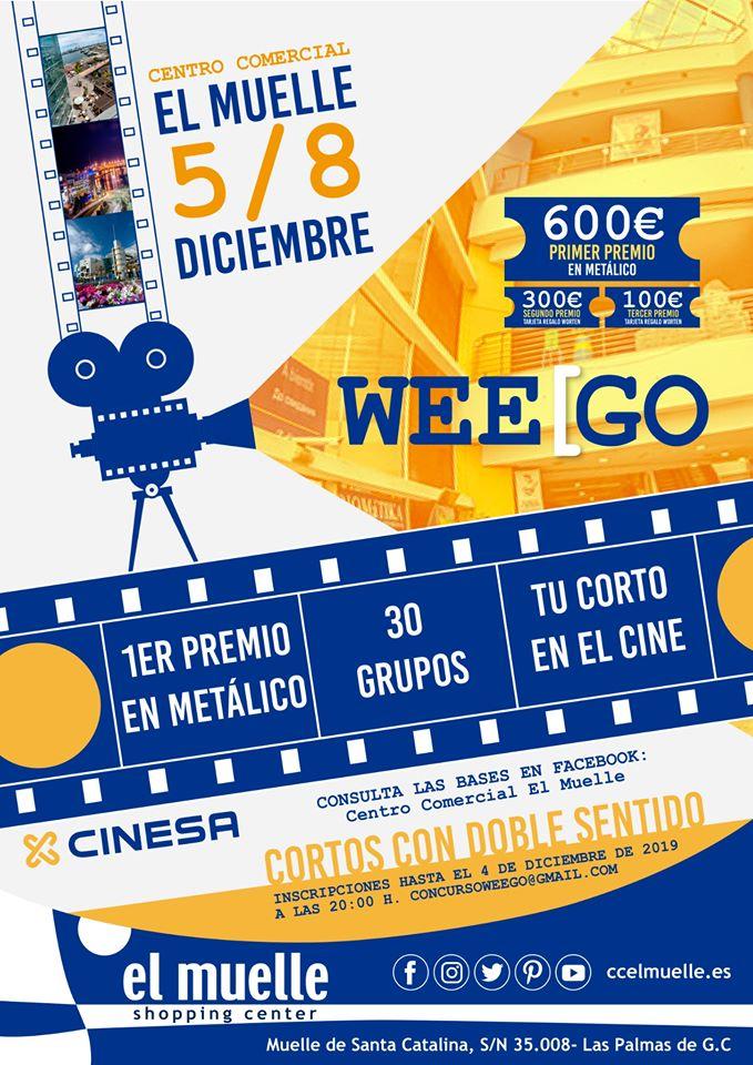 El Centro Comercial El Muelle (GC) convoca su primer concurso oficial #WeeGo de cortometrajes improvisados. // CanariasCreativa.com