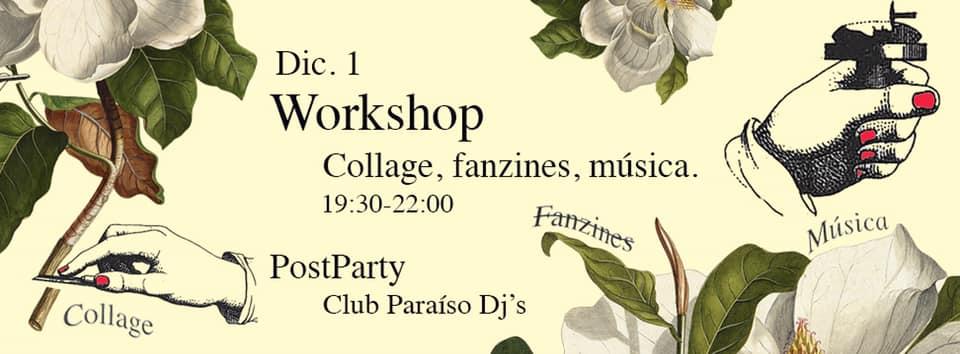 El próximo 1 de diciembre: workshop de Collage, fanzines y música en Equipo PARA. // CanariasCreativa.com
