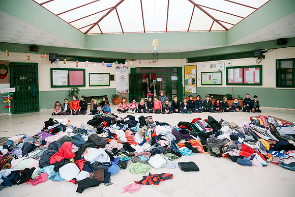 600 kilos de ropa usada contra el cambio climático // CanariasCreativa.com